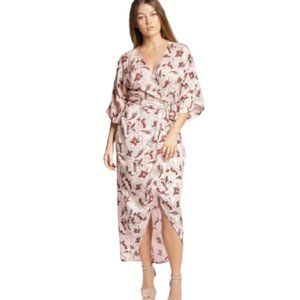 Symbology Hibiscus Flower Wrap  dress